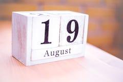девятнадцатое -го август - 19-ое августа - день рождения - международный день - национальный праздник стоковые фотографии rf