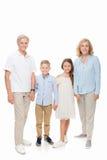 Деды и дети держа руки Стоковые Изображения RF