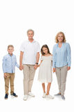 Деды и дети держа руки Стоковое фото RF