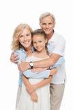 Деды с обнимать внука Стоковое Изображение RF