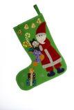 Дед Мороз в его ботинке Стоковое Изображение