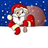 Дед Мороз заботя знамя подарков иллюстрация штока