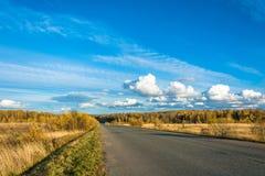 Дезертированная дорога в дне осени Стоковая Фотография RF