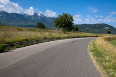 Дезертированная дорога в лете Стоковые Изображения RF