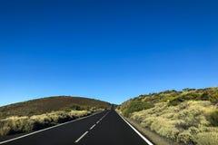 Дезертированная дорога горы, teide Стоковая Фотография