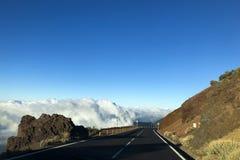 Дезертированная дорога горы, teide Стоковое Изображение