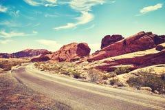 Дезертированная дорога, долина огня, Невады, США Стоковые Фотографии RF