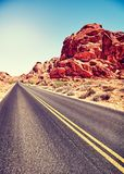 Дезертированная дорога, долина огня, Невады, США Стоковое фото RF