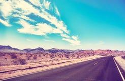 Дезертированная дорога, долина огня, Невады, США Стоковое Изображение