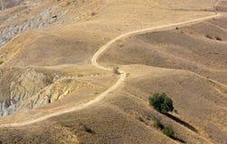 дезертированная дорога земли Стоковые Изображения
