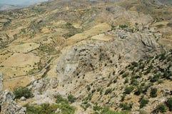 дезертированный восточный индюк ландшафта kurdistan Стоковое Изображение