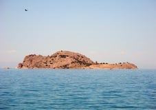 Дезертированный остров в озере Стоковые Изображения RF