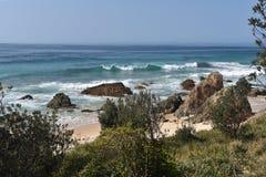 Дезертированный пляж Австралия стоковая фотография