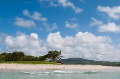 Дезертированный пляж на форте Vieux Стоковое фото RF