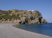 дезертированный пляж Стоковые Фото