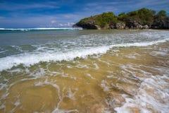 Дезертированный пляж Стоковое фото RF