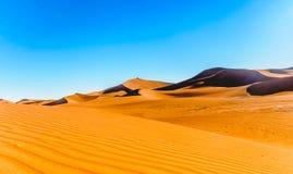 Дезертируйте ландшафт Сахары рядом с Mhamid в Марокко Стоковая Фотография RF