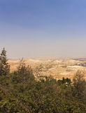 Дезертируйте область западного берега и палестинских городков и деревень за разделительной стеной западного берега Стоковое Изображение RF