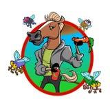 Дезодорированный шарж лошади Стоковое Изображение RF