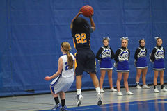 Действие баскетбола Стоковое Изображение