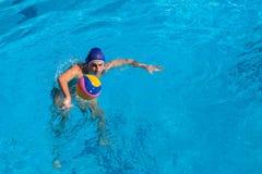 Действие бассейна Вод-поло Стоковая Фотография RF