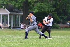 Действие бейсбола дилетанта Стоковое Изображение