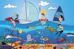 Действие морских и подводной лодки Стоковые Фото
