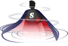 Действие супергероя Стоковые Изображения