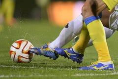 Действие футбола или футбола стоковая фотография