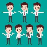 Действия характера бизнесмена Стоковое фото RF