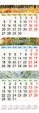 Декабри 2017 и январей 2018 -го ноябрь с покрашенными изображениями в форме календаря Стоковая Фотография RF