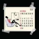 декабрь Американский и канадский календарь иллюстрация штока