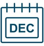 Декабрь, значок вектора дня специального события в декабре который можно легко доработать или редактировать иллюстрация штока