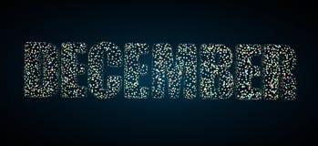 Декабрь с Confetti иллюстрация штока