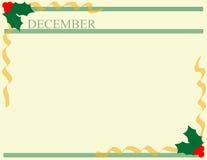 декабрь Иллюстрация вектора