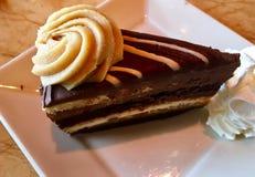 Декадентские арахисовое масло и чизкейк шоколада стоковые изображения rf