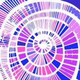 Декоративная абстрактная предпосылка с спиральным элементом бесплатная иллюстрация