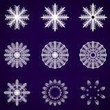 Декоративная абстрактная снежинка. Вектор Стоковые Изображения