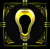 Декоративная лампа символизируя электрическую лампочку иллюстрация 3d Стоковая Фотография RF