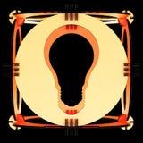 Декоративная лампа символизируя электрическую лампочку иллюстрация 3d Стоковое Изображение