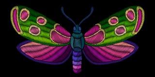 Декоративная бабочка вышивки Стоковое Изображение RF