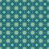 Декоративная безшовная геометрическая картина вектора с большими формами teal иллюстрация штока