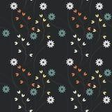 Декоративная безшовная картина с цветками и заводами Стоковое фото RF