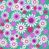 Декоративная безшовная картина с цветками иллюстрация штока