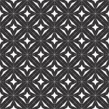 Декоративная безшовная флористическая геометрическая черная & белая предпосылка картины Стоковое фото RF