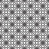 Декоративная безшовная флористическая геометрическая черная & белая предпосылка картины Стоковое Изображение RF