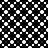 Декоративная безшовная флористическая геометрическая черная & белая предпосылка картины Стоковые Изображения