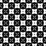Декоративная безшовная флористическая геометрическая черная & белая предпосылка картины Стоковое Изображение