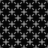 Декоративная безшовная флористическая геометрическая черная & белая предпосылка картины Стоковые Изображения RF