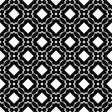 Декоративная безшовная флористическая геометрическая черная & белая предпосылка картины Стоковая Фотография RF